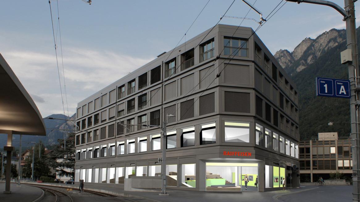 Einbau Geschäftsstelle Raiffeisenbank