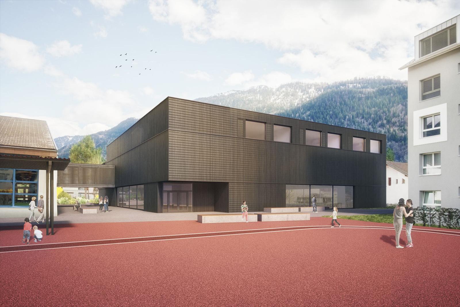 Mehrzweckhalle und Schulerweiterung